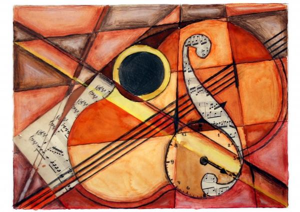 Geige, Kubismus