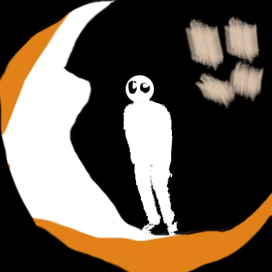 man in the eye of the moon