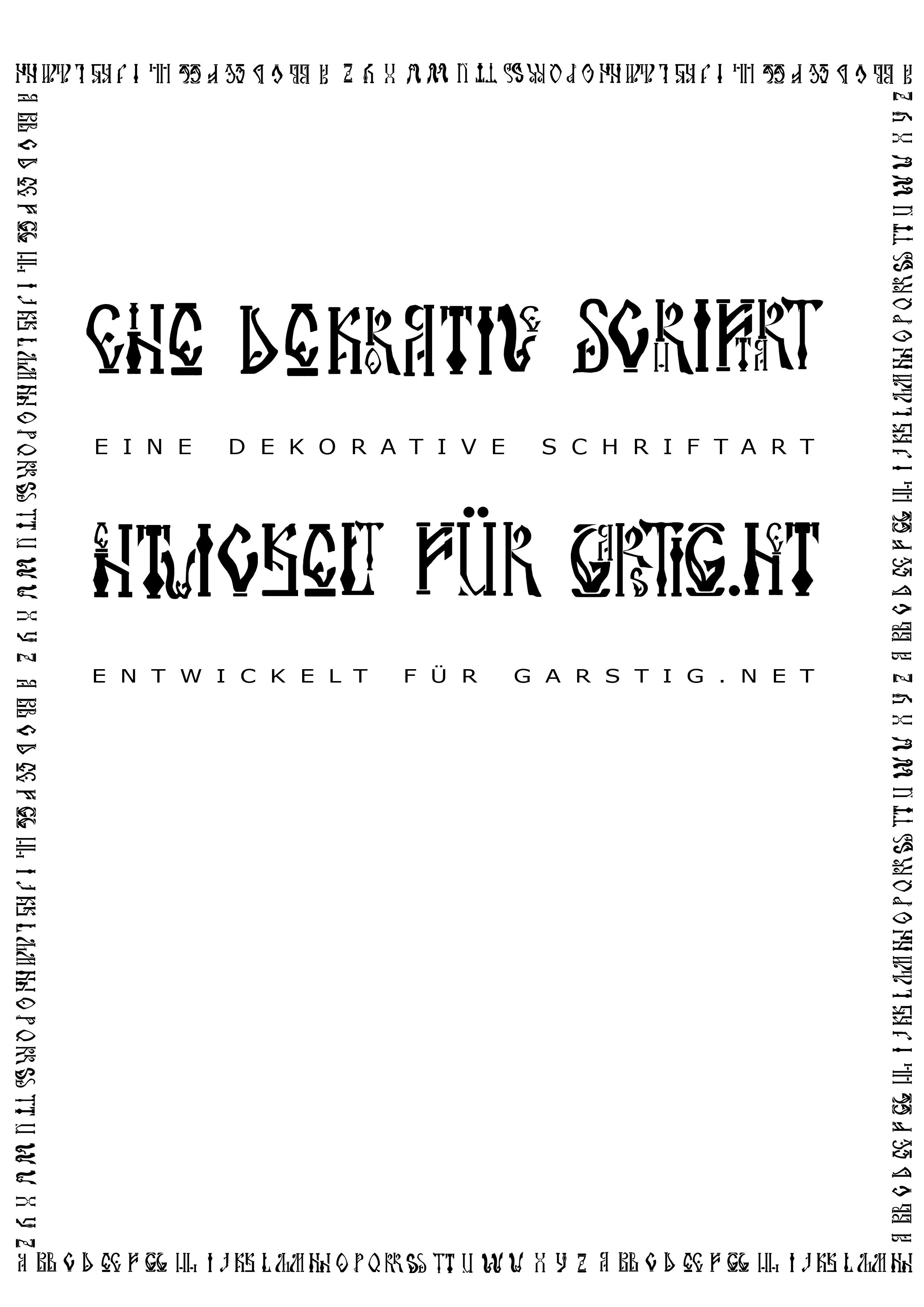 2006 Schriftart - Garstig