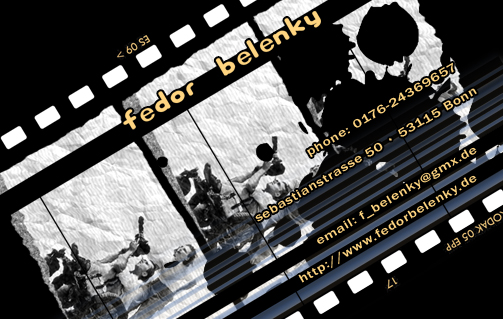 2009-06 eigene Visitenkarte 'Film Zelluloid'