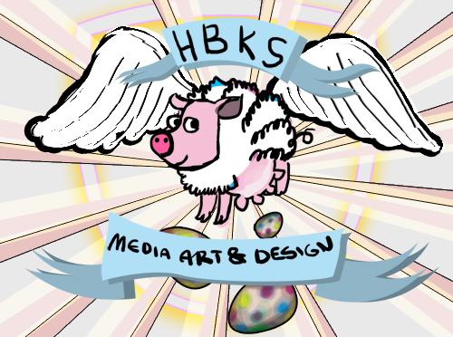2010-03 Logo HBK Saar MAD 'eierlegende Wollmilchsau' Entwurf